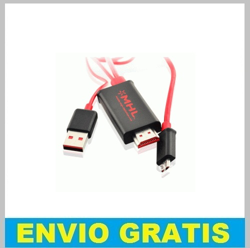 CABLE 2M MICRO-USB A HDMI HDTV PARA SAMSUNG GALAXY/ NEXUS/ SONY XPERIA/ HTC ONE / LG OPTIMUS