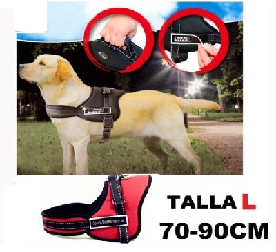ARNES PARA PERRO ACOLCHADO TALLA L 70- 90CM SPORTS HARNESS SET ADIESTRAR COLOR ROJO