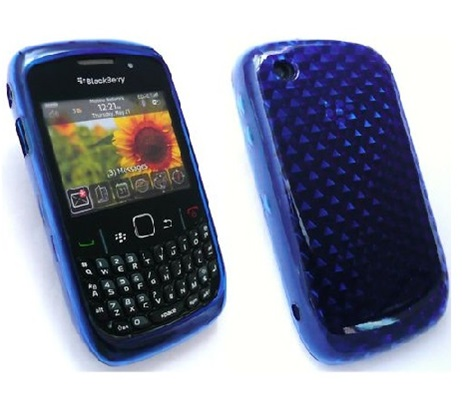 Funda Gel Silicona TPU para Blackberry 8520 8530 9300 AZUL