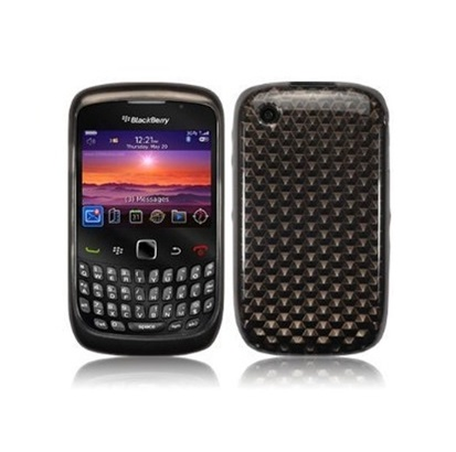 Funda Gel Silicona TPU para Blackberry 8520 8530 9300 NEGRA