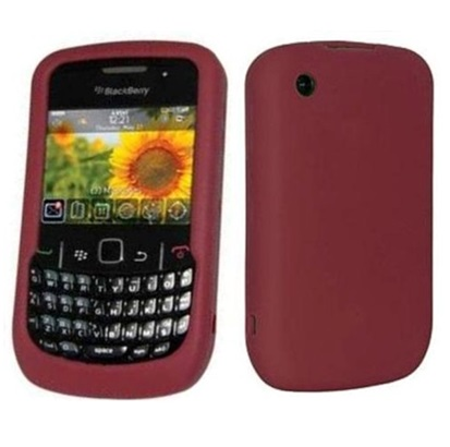 Funda de Silicona para Blackberry 8520 8530 9300 Rojo Cereza