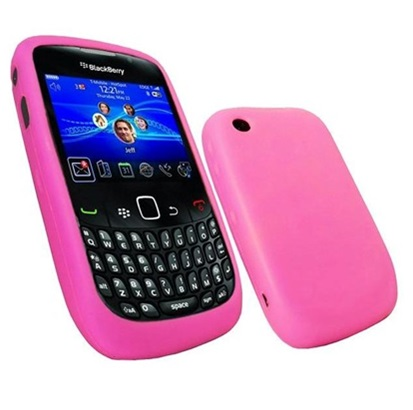Funda de Silicona para Blackberry 8520 8530 9300 Rosa Chicle