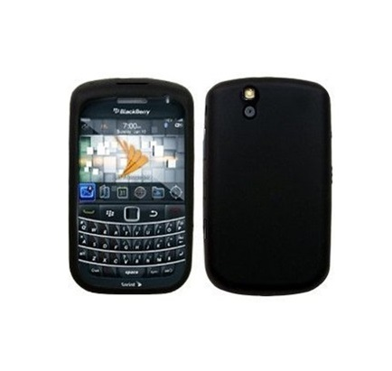 Funda de Silicona para Blackberry 9630 Tour NEGRA