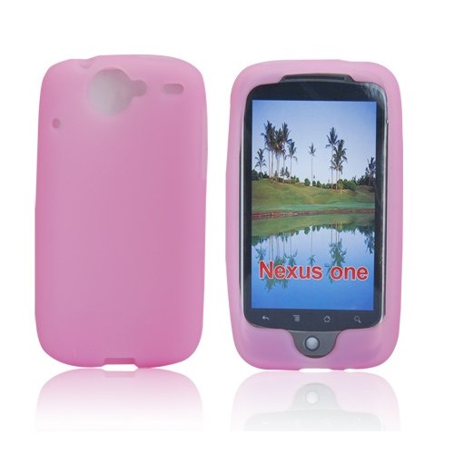 FUNDA SILICONA PARA HTC GOOGLE NEXUS ONE G5 ROSA