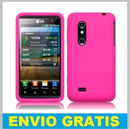 FUNDA SILICONA PARA LG OPTIMUS 3D P920 /THRILL 4G FUCSIA