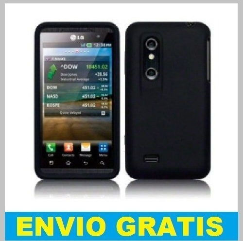 FUNDA SILICONA PARA LG OPTIMUS 3D P920 /THRILL 4G  NEGRA