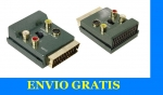 ADAPTADOR IN/OUT EUROCONECTOR HEMBRA + 3RCA Y S-VIDEO