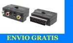 CONVERSOR 3 RCA(VIDEO+AUDIO)/S-VIDEO A EUROCONECTOR